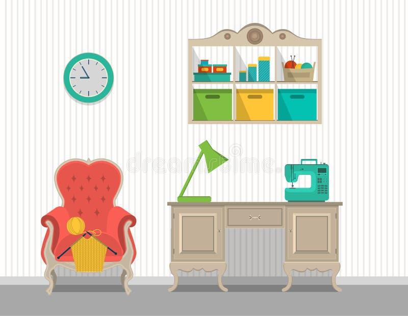Cuartos interiores para los artes Diseño plano libre illustration