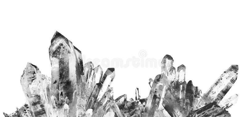 Cuarzo cristalino foto de archivo libre de regalías