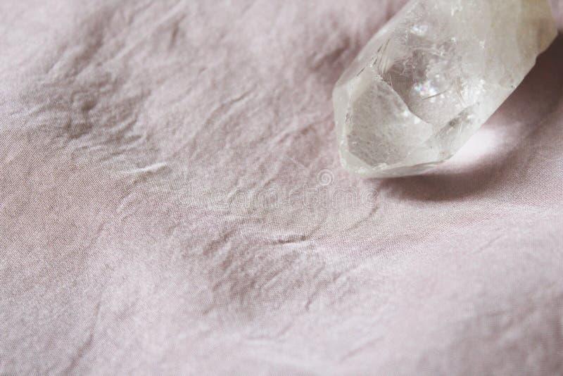 Cuarzo cristalino claro brillante imagen de archivo libre de regalías