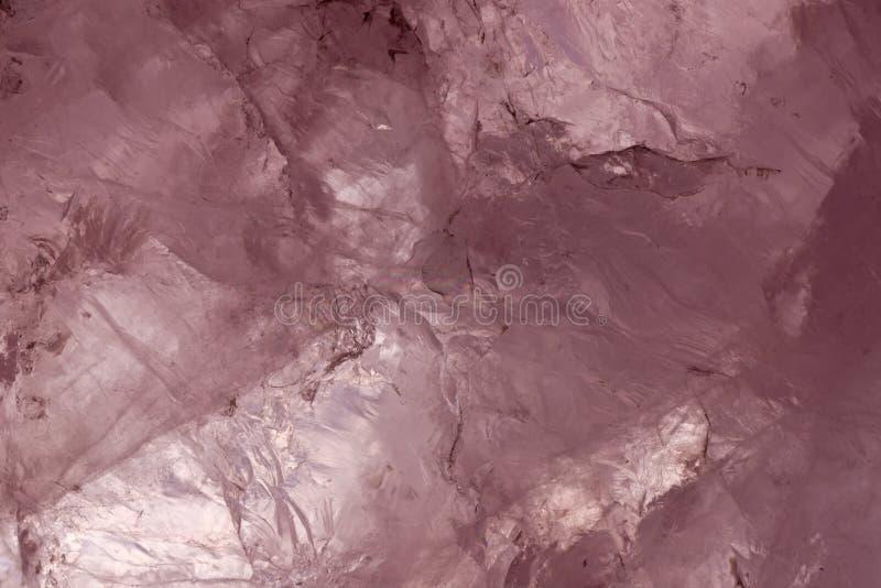 Cuarzo de Rose retroiluminado foto de archivo libre de regalías