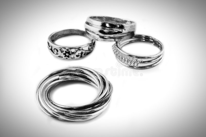 Cuatro anillos foto de archivo libre de regalías