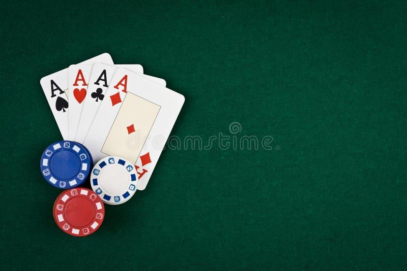 Cuatro as del póker fotos de archivo