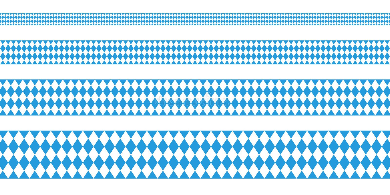 Cuatro bandera Oktoberfest Diamond Pattern recto libre illustration