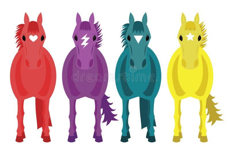Cuatro caballos de la fantasía imagen de archivo
