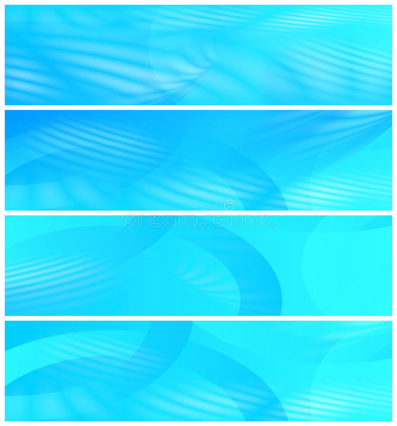 Cuatro cabeceras del Web site ilustración del vector