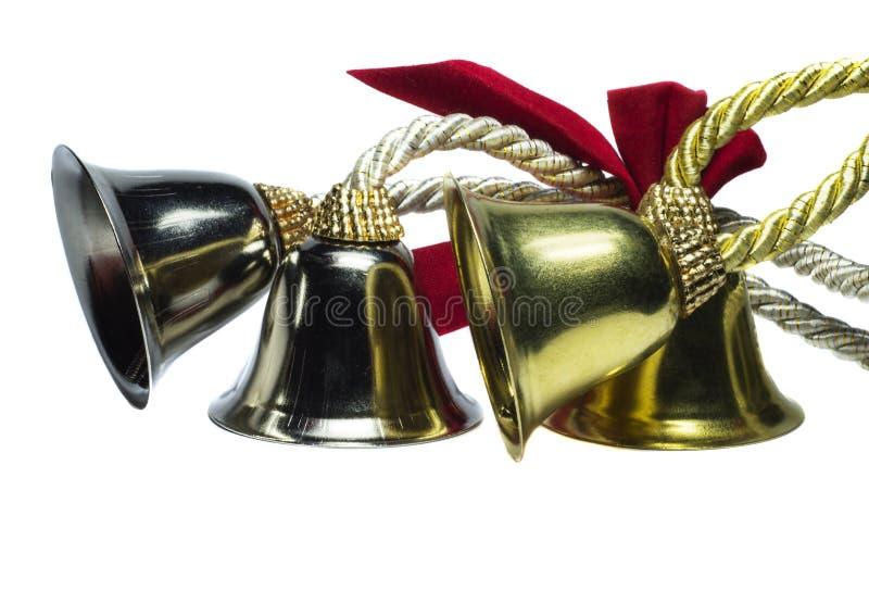 Cuatro campanas de la Navidad exóticas imagen de archivo