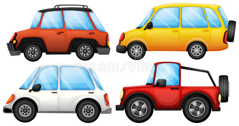 Cuatro dispositivos del transporte ilustración del vector