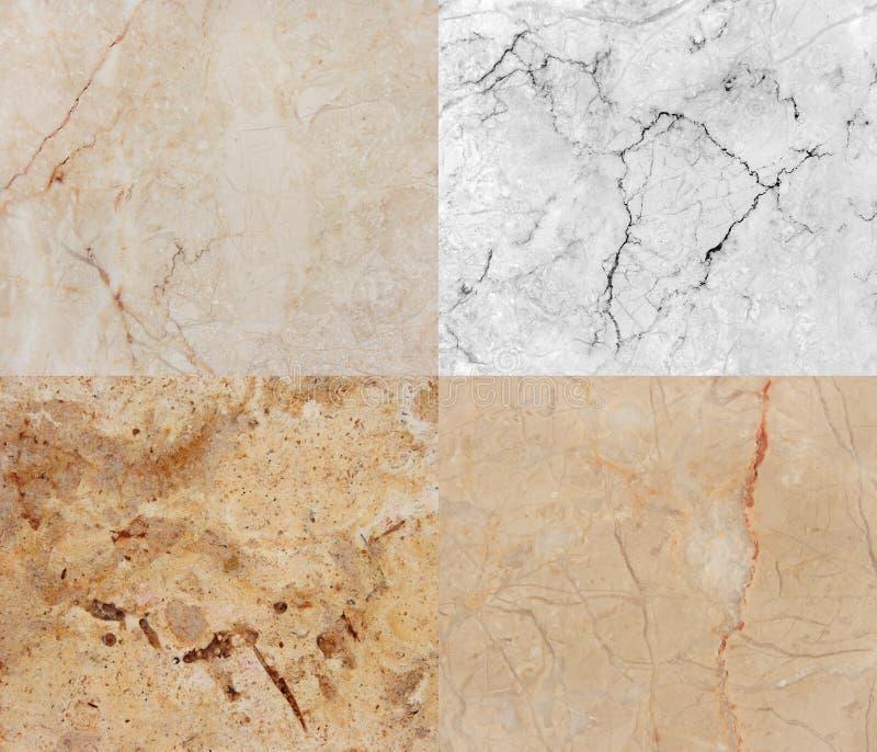 Cuatro diversa textura del mármol y del granito. (high.res.) imagen de archivo