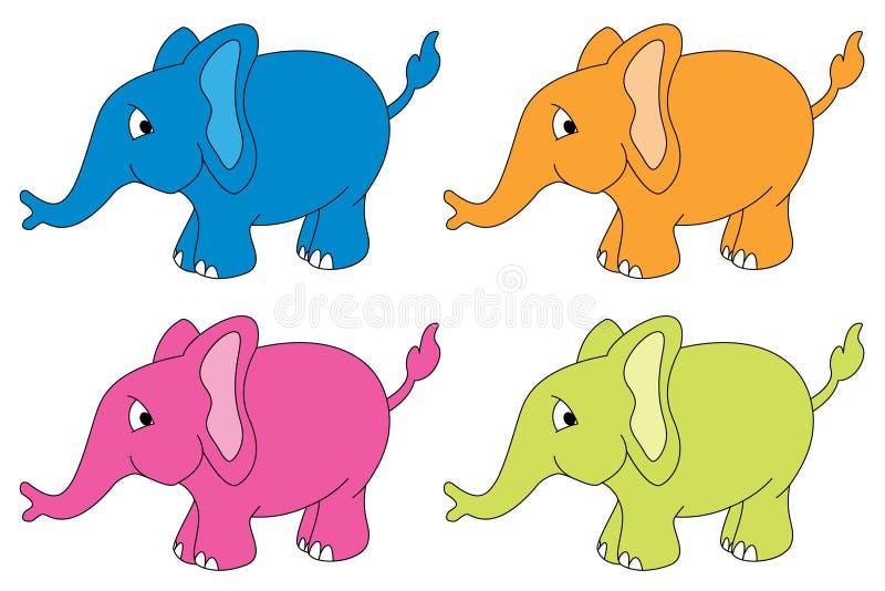 Cuatro elefantes libre illustration