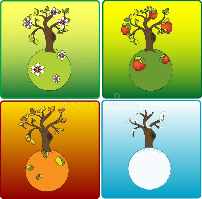 Cuatro estaciones ilustración del vector