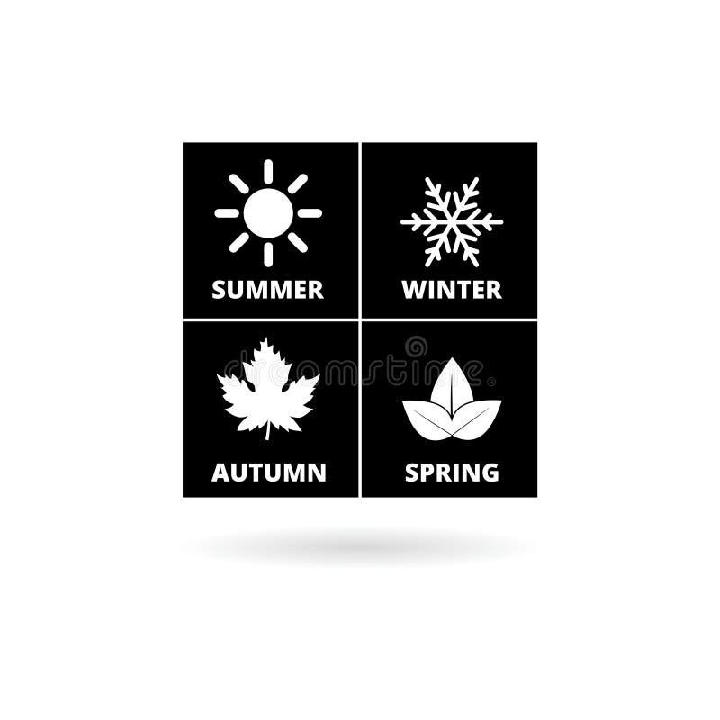 Cuatro estaciones, icono de la estación libre illustration