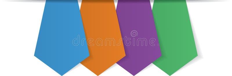 Cuatro flechas en blanco stock de ilustración