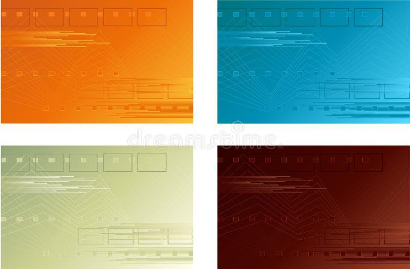 Cuatro fondos ilustración del vector