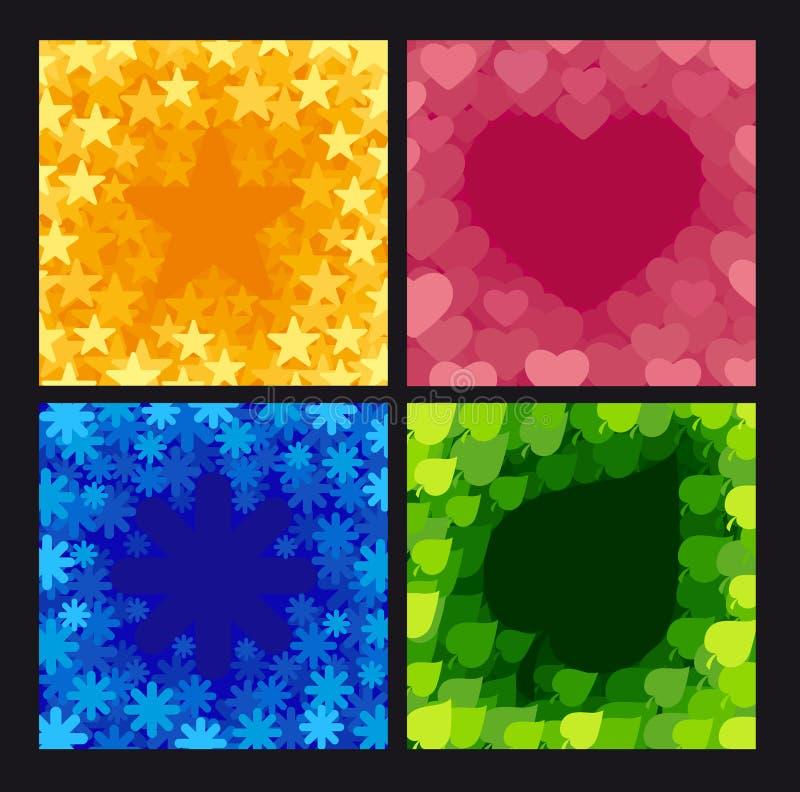 Cuatro fondos abstractos ilustración del vector