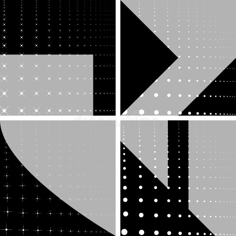 Cuatro fondos geométricos ilustración del vector