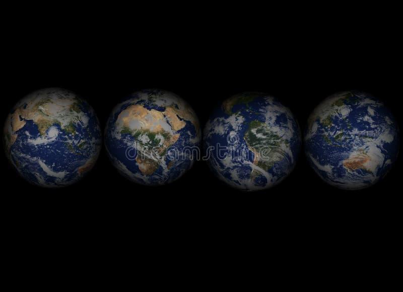 Cuatro Globes001 stock de ilustración
