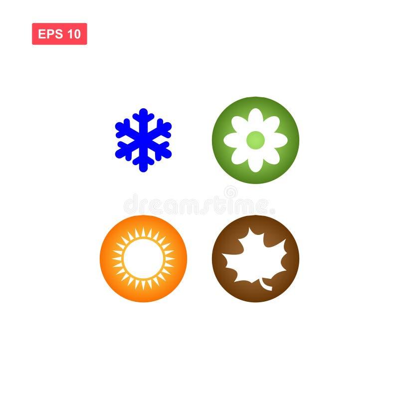 Cuatro iconos de las estaciones ilustración del vector