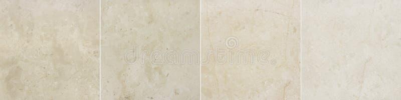 Cuatro imágenes del fondo de mármol con el modelo natural fotos de archivo libres de regalías
