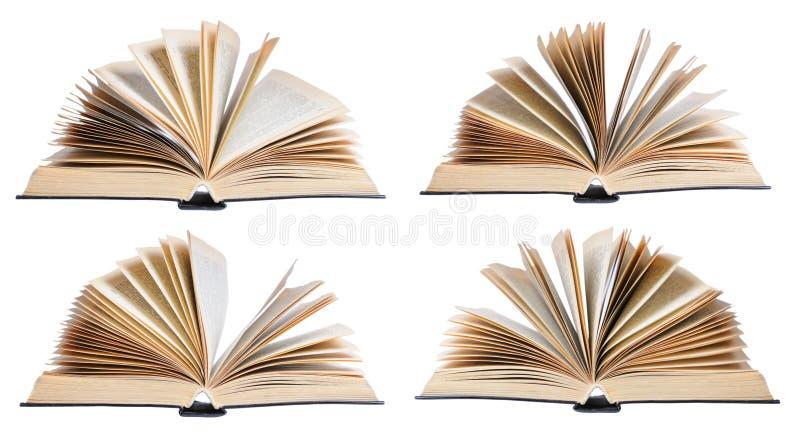 Cuatro libros abiertos imagen de archivo libre de regalías