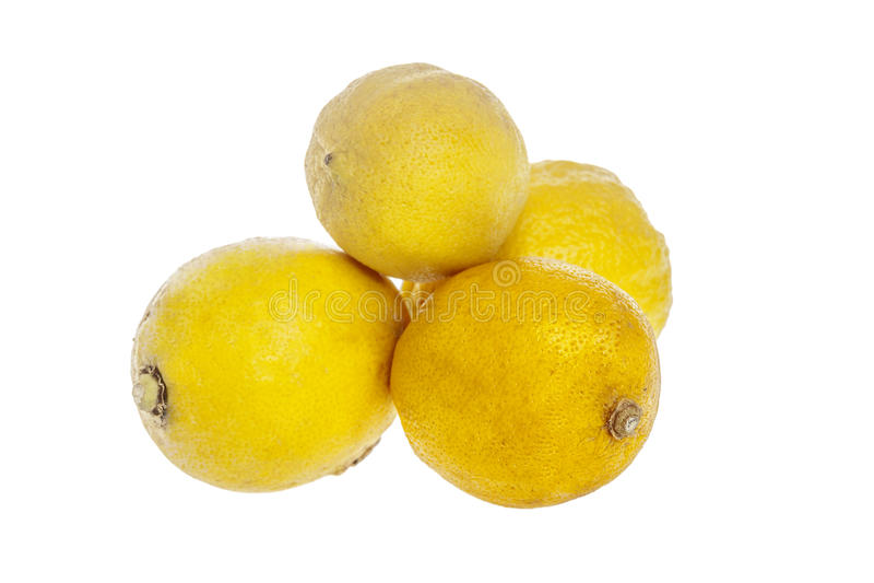 Cuatro limones naturales imagenes de archivo