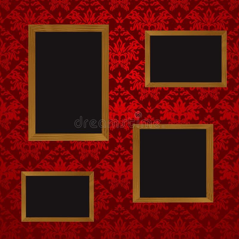 Cuatro marcos ilustración del vector