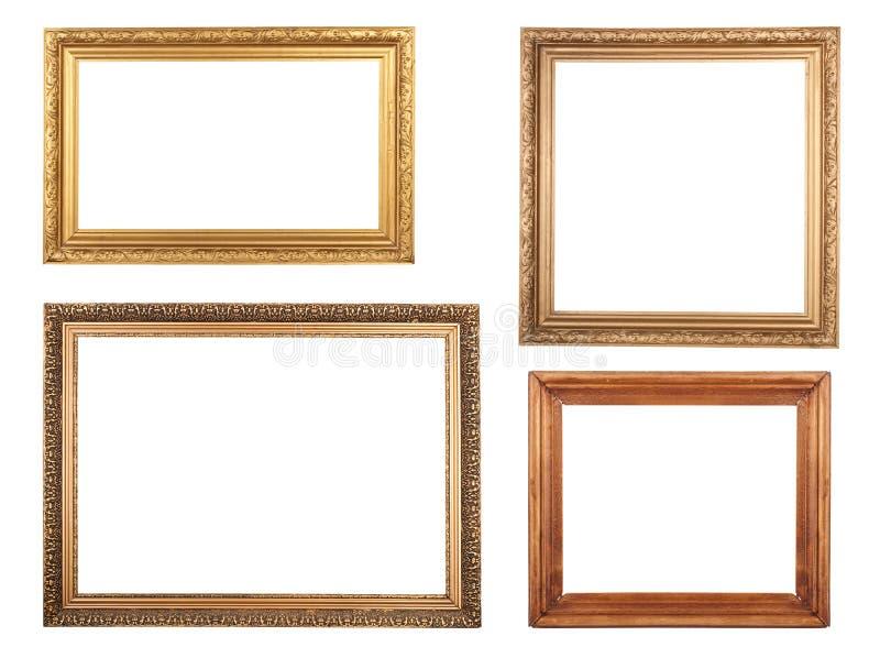 Cuatro marcos antiguos. imagen de archivo libre de regalías