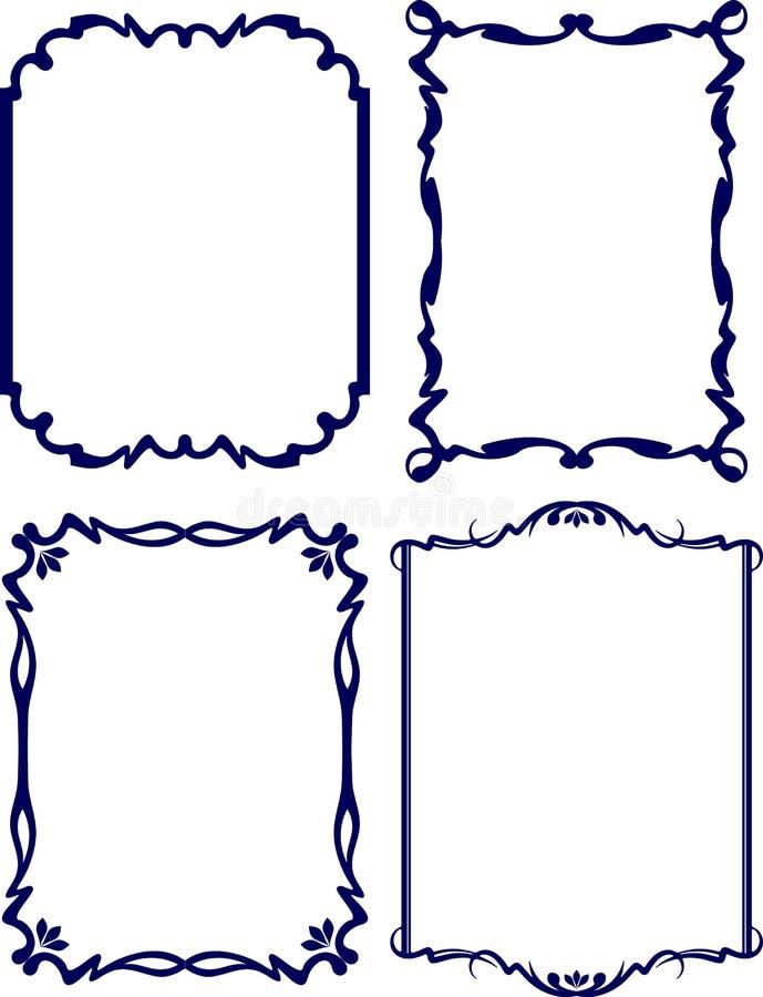 Cuatro Marcos Clásicos De La Decoración Ilustración del Vector ...