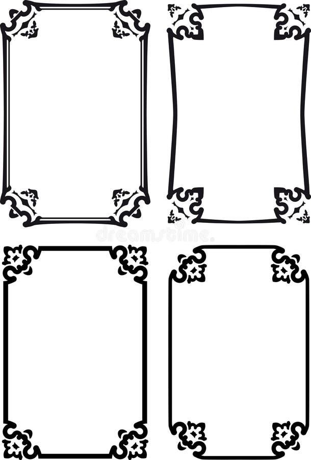 Cuatro Marcos Decorativos Clásicos Ilustración del Vector ...