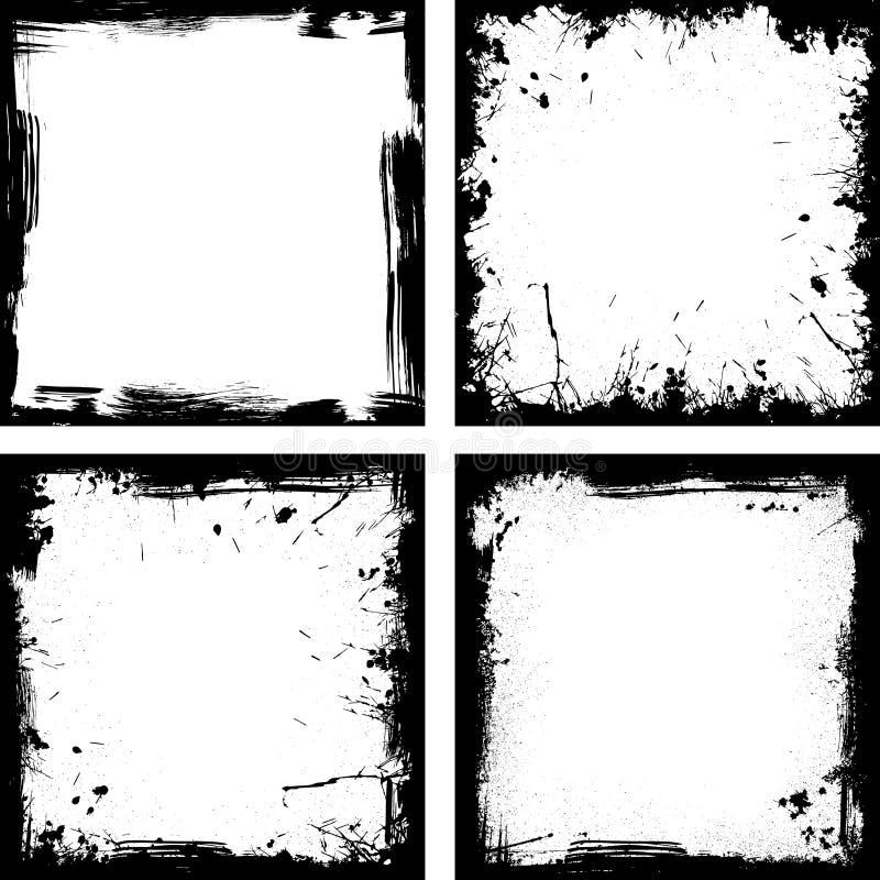 Cuatro marcos negros ilustración del vector. Ilustración de cartel ...