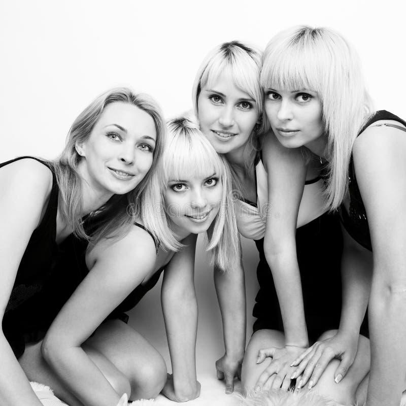 Cuatro mujeres hermosas imágenes de archivo libres de regalías