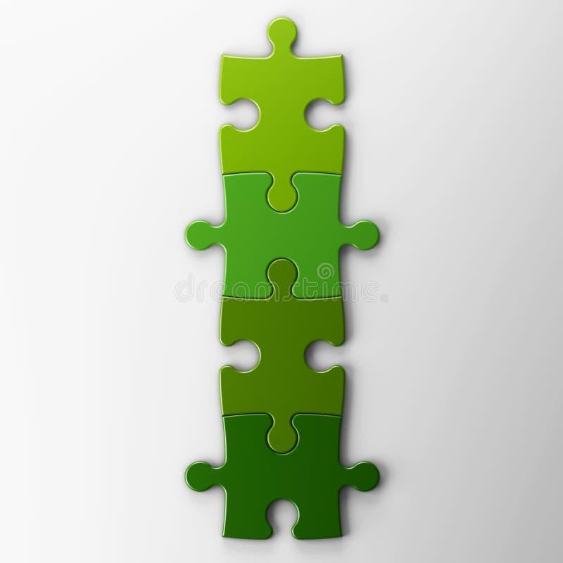 Cuatro pedazos del rompecabezas con el camino de recortes libre illustration