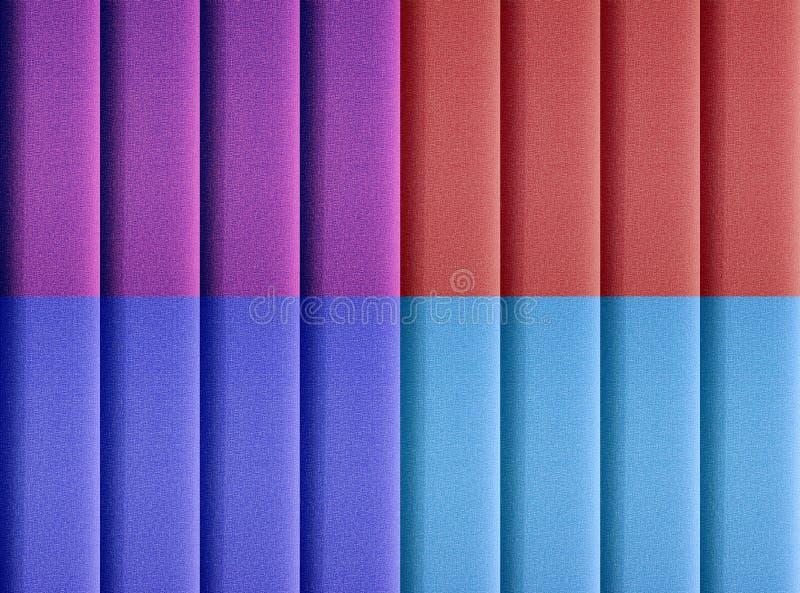 Cuatro persianas coloreadas de la vertical foto de archivo libre de regalías