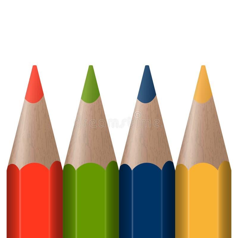 Cuatro plumas coloreadas libre illustration