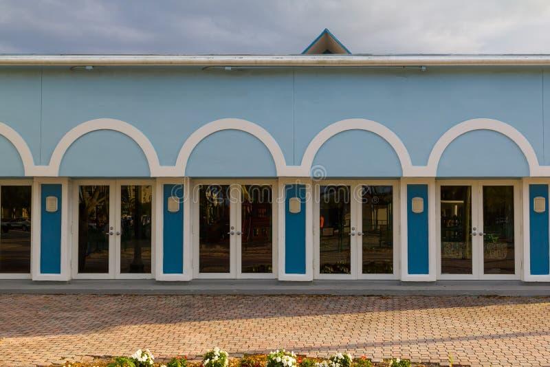 Cuatro puertas dobles foto de archivo libre de regalías