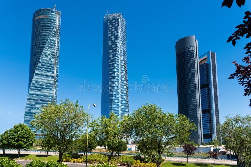 Cuatro rascacielos de las torres imágenes de archivo libres de regalías