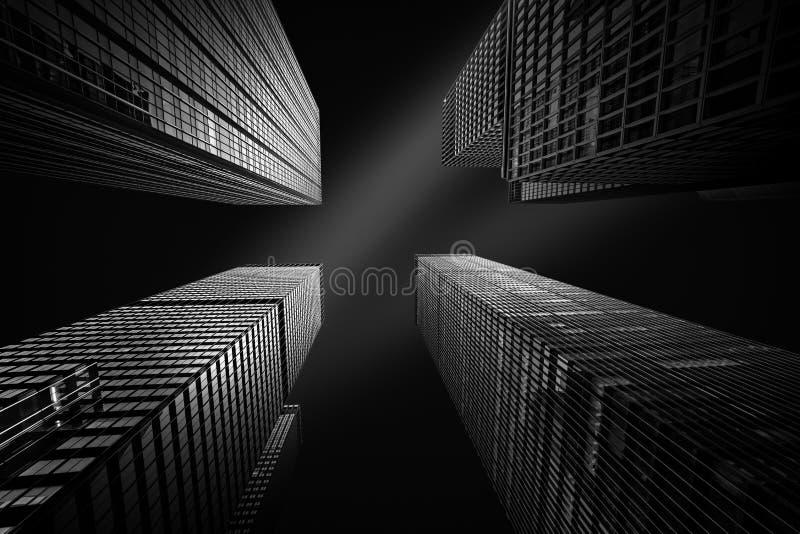 Cuatro rascacielos de Nueva York foto de archivo libre de regalías