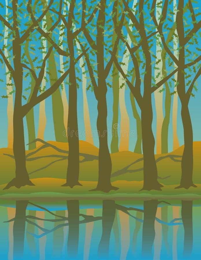 Cuatro Seasons_Summer ilustración del vector