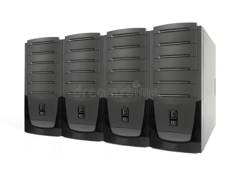 Cuatro servidores imágenes de archivo libres de regalías