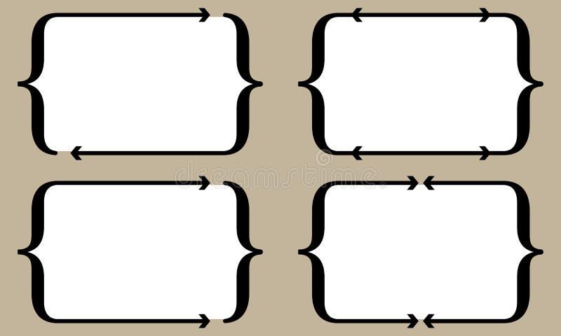 Cuatro soportes con las flechas para el terraplén su texto libre illustration