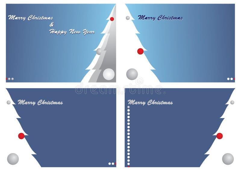 Cuatro tarjetas de Cristmas fotografía de archivo libre de regalías