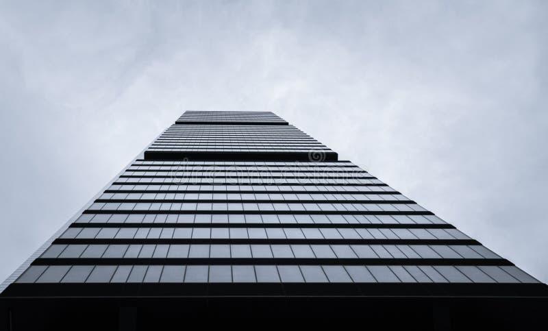 Cuatro Torres Business Area (CTBA) building skyscraper, in Madrid, Spain stock photography