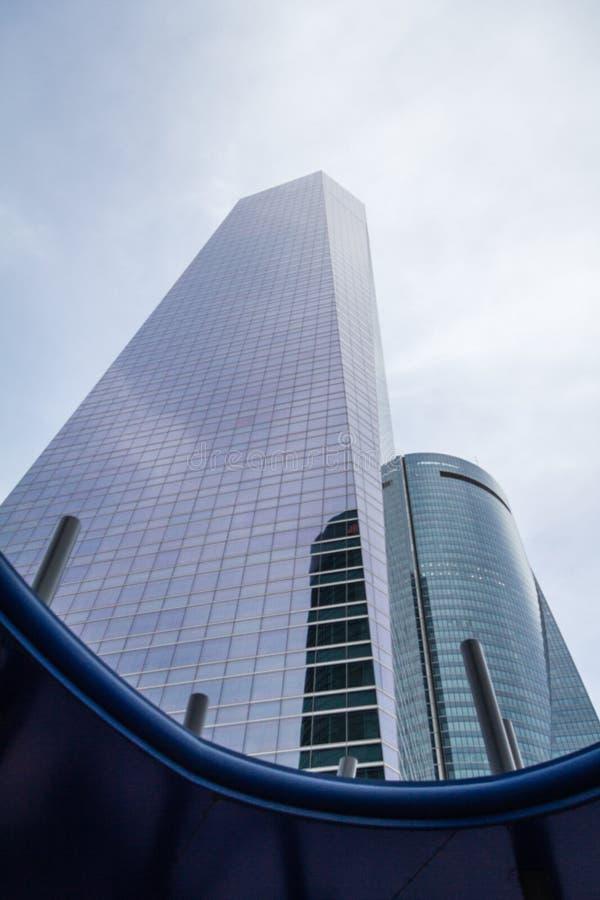 Cuatro Torres Business Area (CTBA) building skyscrapers, in Madrid, Spain stock images