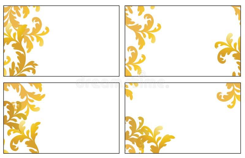 Cuatro variantes de las tarjetas de la visita ilustración del vector