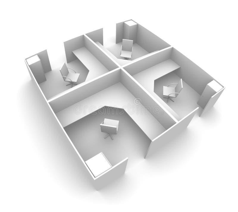 Cubículos ilustración del vector