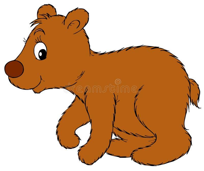 Cub di orso illustrazione di stock