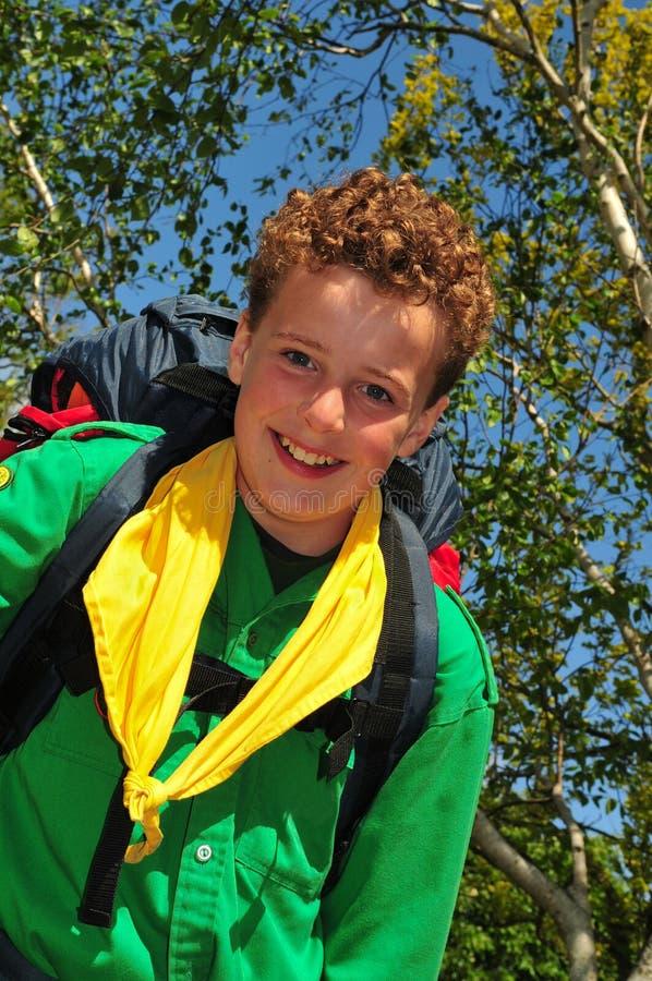Cub Scout feliz imagen de archivo libre de regalías