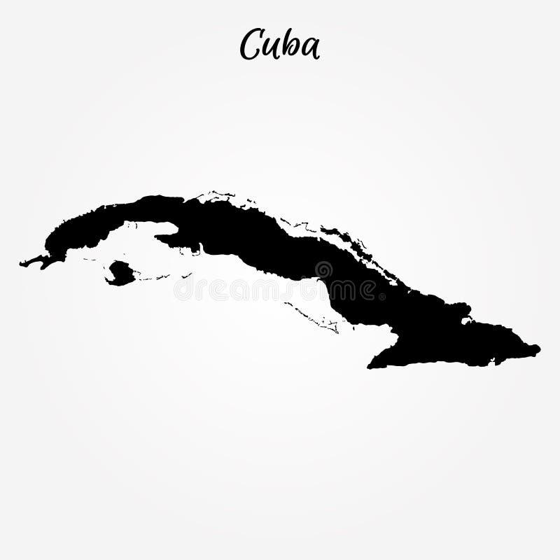 cuba översikt vektor illustrationer