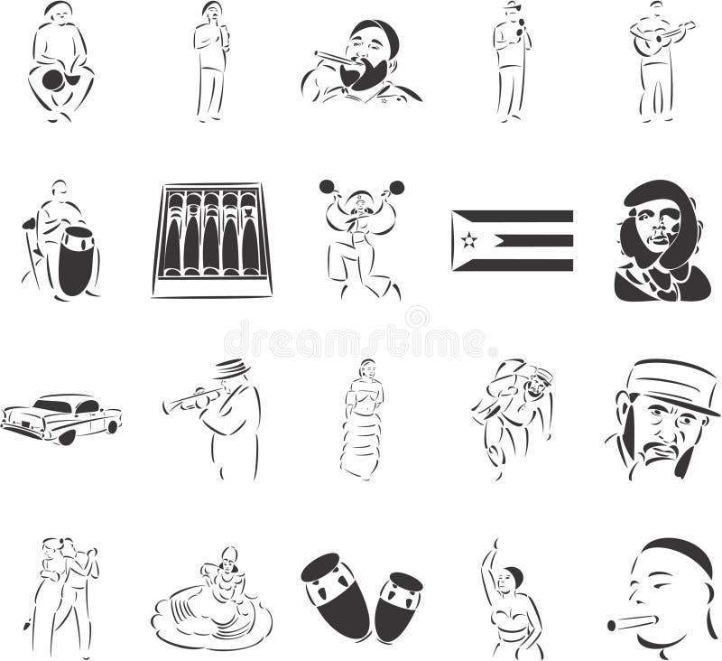cuba vektor illustrationer