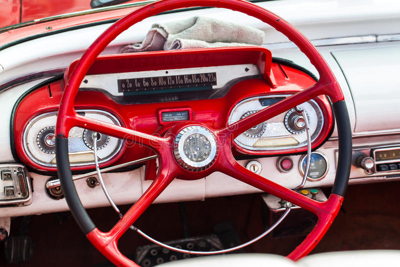 Download Cuba American Oldtimer In Cuba With Interior Stock Photo - Image: 37906558