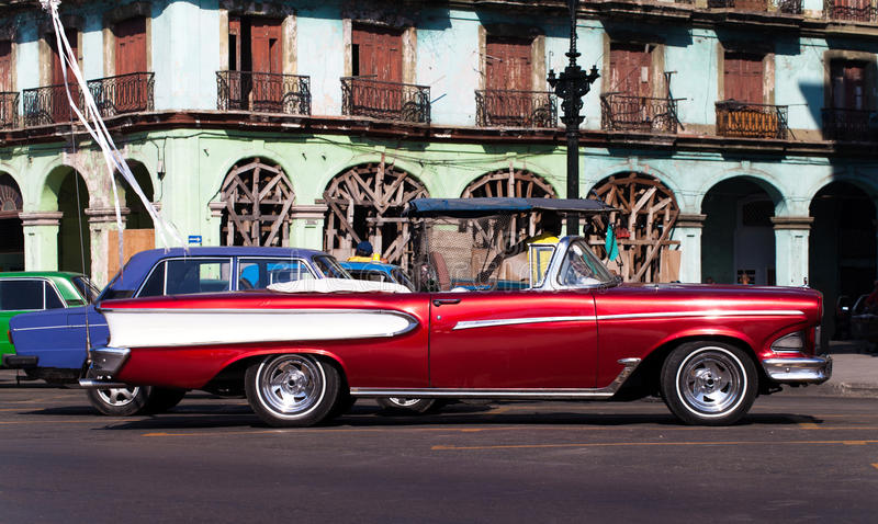 Download Cuba American Oldtimer In Havana City On The Road Stock Image - Image: 37908707